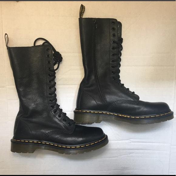 e9a098fd9341 Dr. Martens Shoes - Dr. Martens Black 1b99 14-eye Zip Virginia Boots